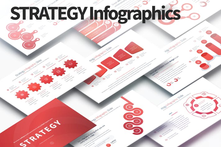 Thumbnail for Strategy - PowerPoint Infographics Slides