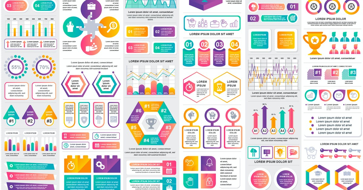 Download Collection Infographic Elements Template Graphics by alexdndz