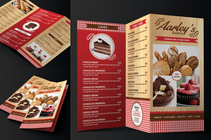 Thumbnail for Trifold Bakery Menu