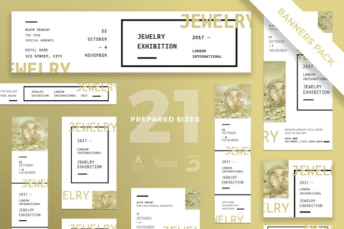 Thumbnail for Jewelry Exhibition Banner Pack Template