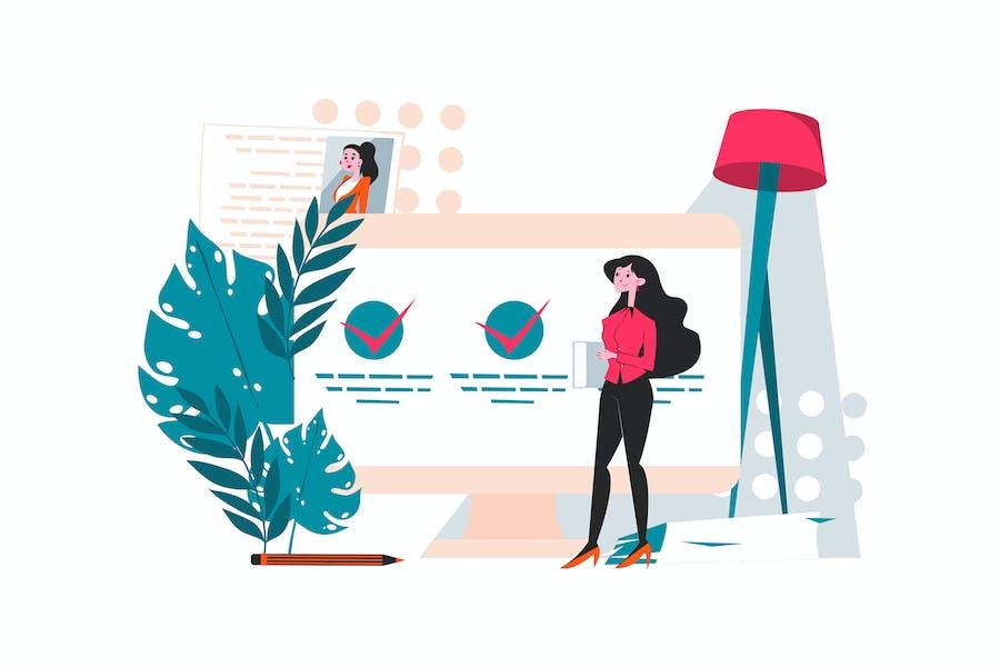Hiring Managers Analyzing Candidates Resume