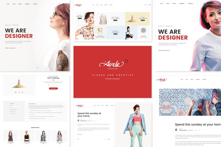 Thumbnail for Avele | PSD Web Template