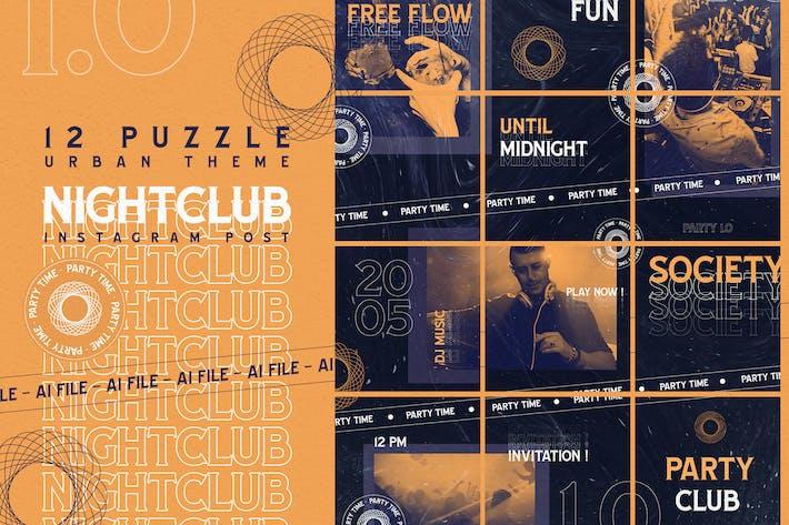 Thumbnail for Urban Puzzle Thème - Boîte de nuit Instagram Post