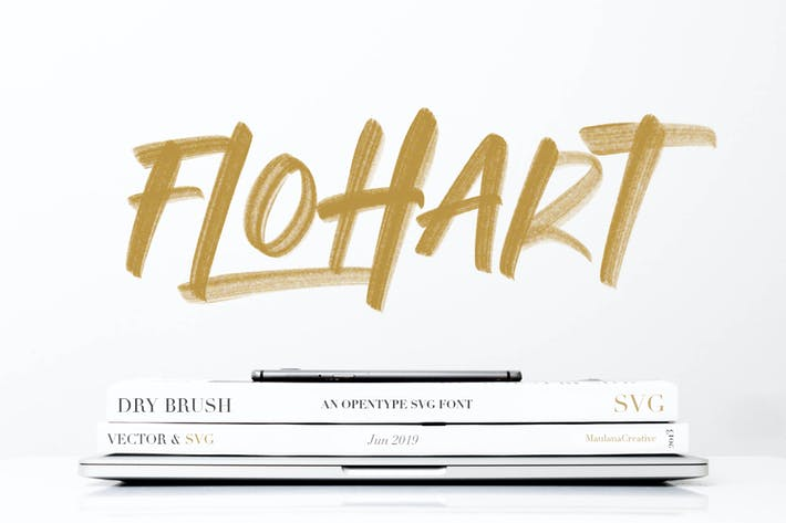 Thumbnail for Flohart Svg Brush Font