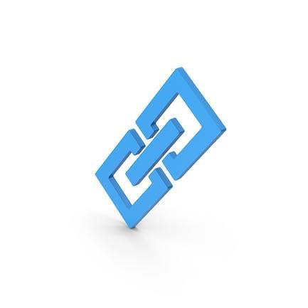 Symbol Link/Kette Blau