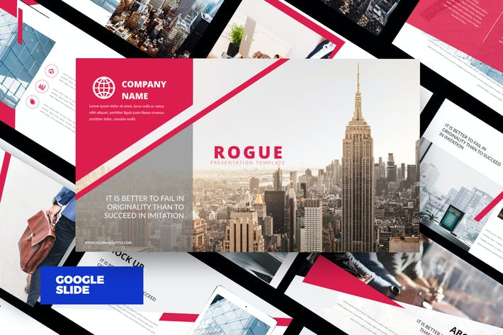 Thumbnail for Rouge - Corporate Google Slide