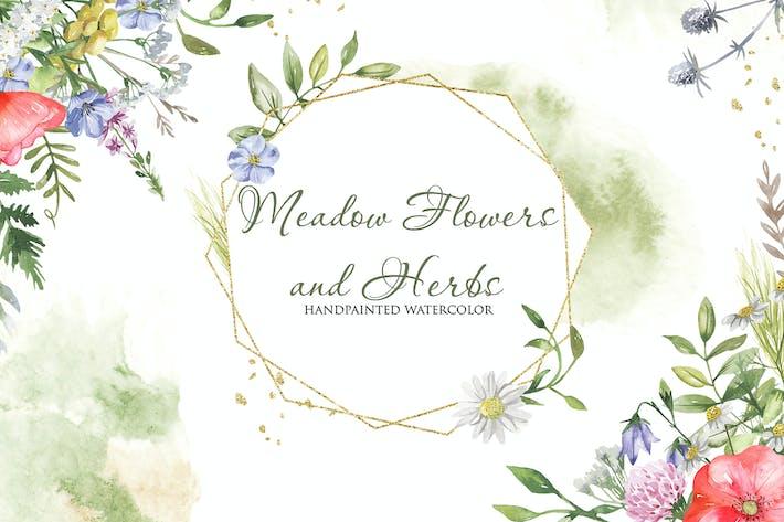 Thumbnail for Flores de Acuarela Prado y Hierbas