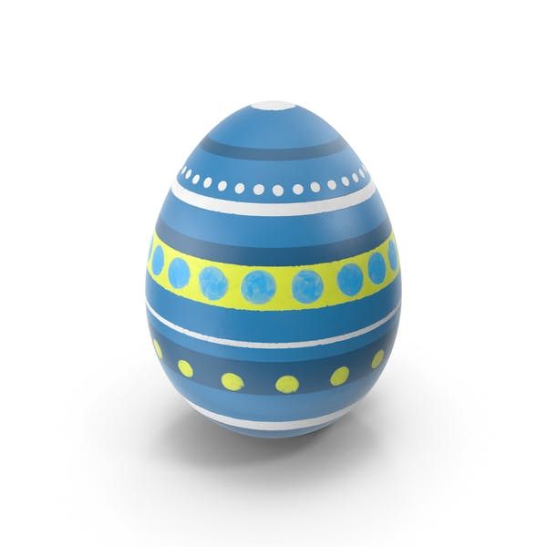 Easter Egg with Stripes