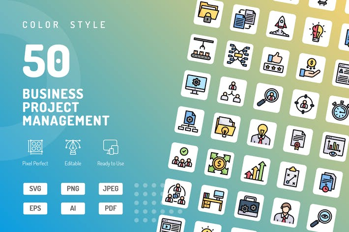 Thumbnail for Business Project Management Color Icons