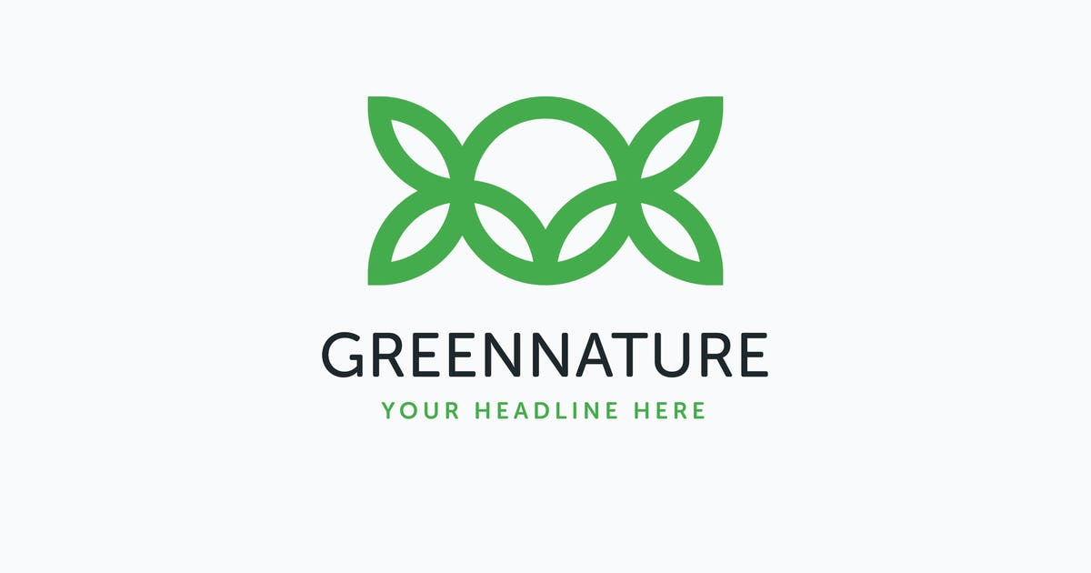 Download Green Nature Logo Template by MuseFrame
