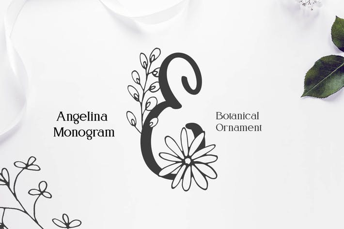 Thumbnail for Angelina Monogram Font