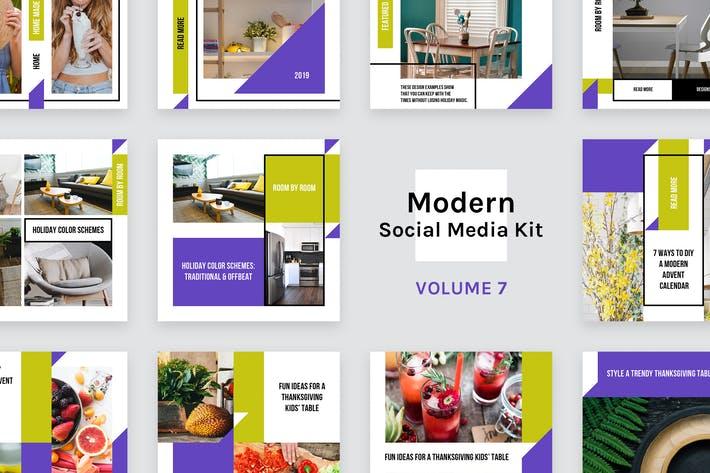 Cover Image For Modern Social Media Kit (Vol. 7)