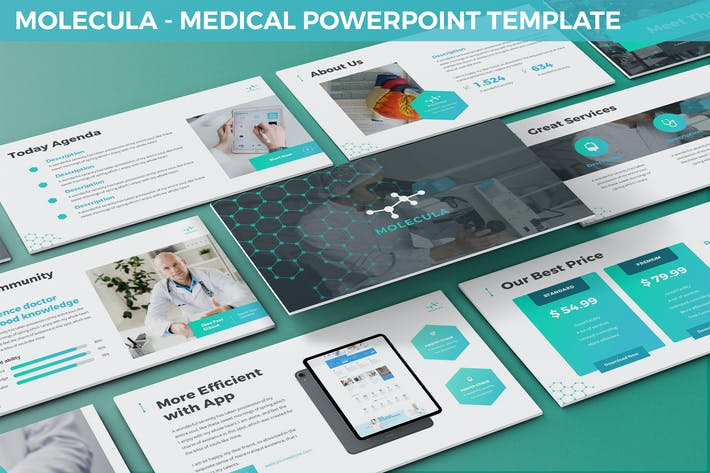 Cover Image For Molecula - Medical Powerpoint Template