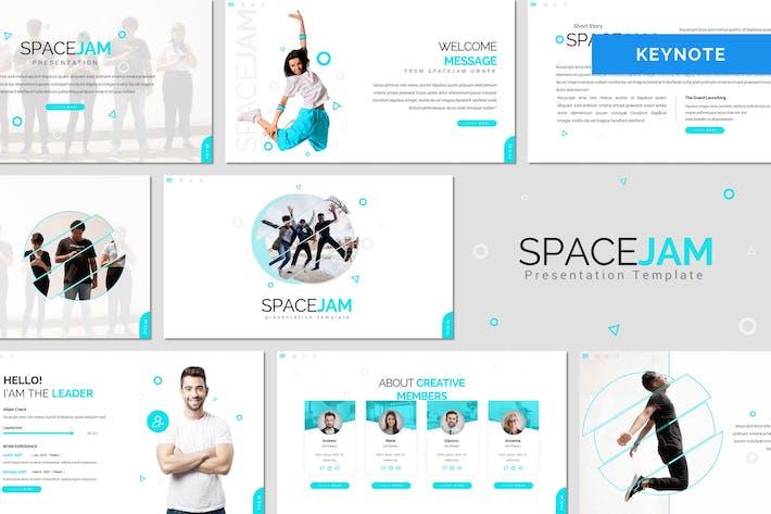 Spacejam - Творческий Шаблон Keynote