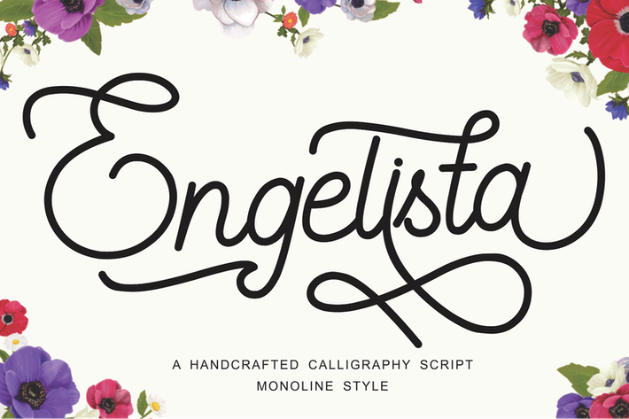 Thumbnail for Engelista - Handcrafted Calligraphy Script Font