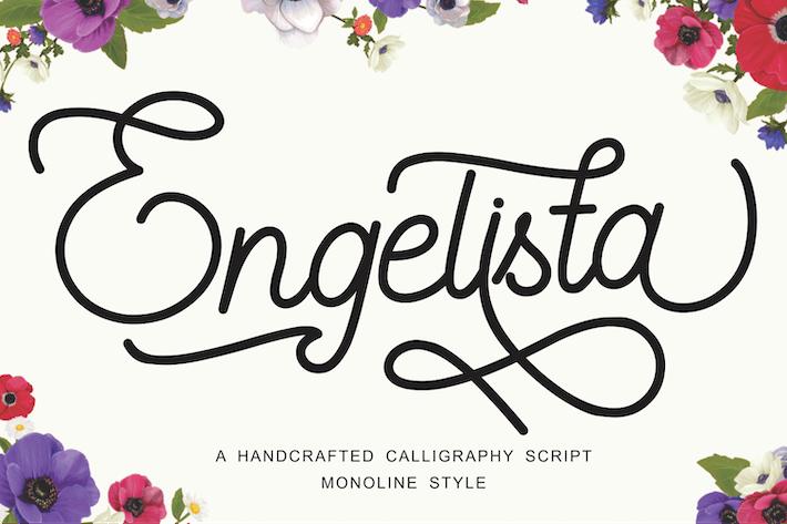 Engelista - Fuente de escritura de caligrafía hecha a mano
