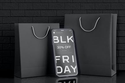 Black Friday Mockup Smartphone