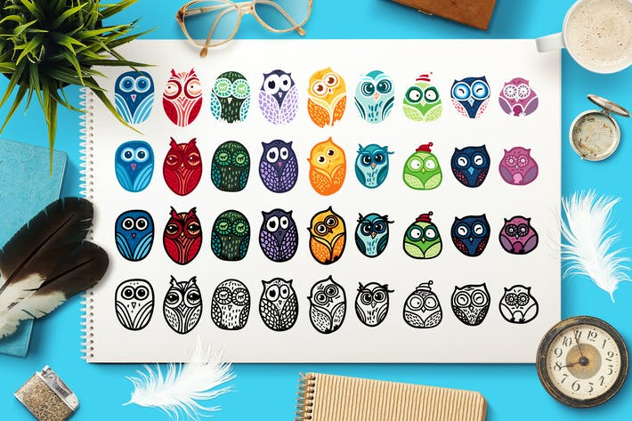 Thumbnail for Nice Owls Set