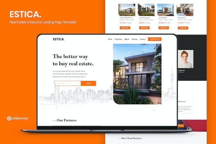 Estica — Real Estate Unbounce Landing Page