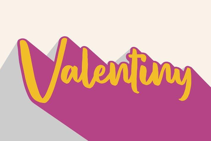 Thumbnail for Valentiny GJ Brush Font
