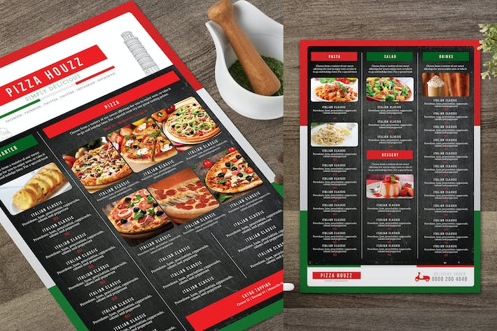 Thumbnail for Pizza Menu