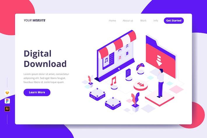Thumbnail for Téléchargement numérique - Page de destination