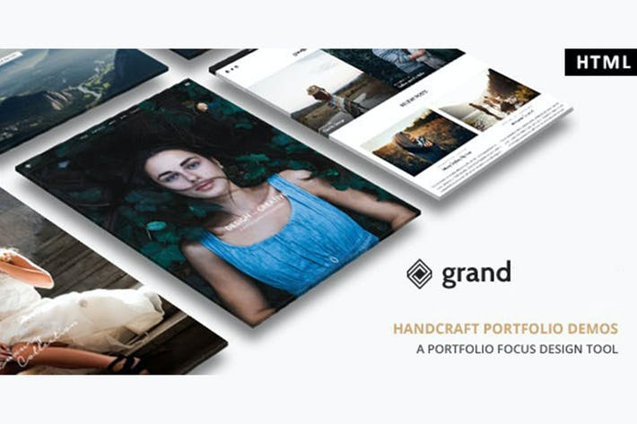 Thumbnail for Grand Portfolio - HTML Template