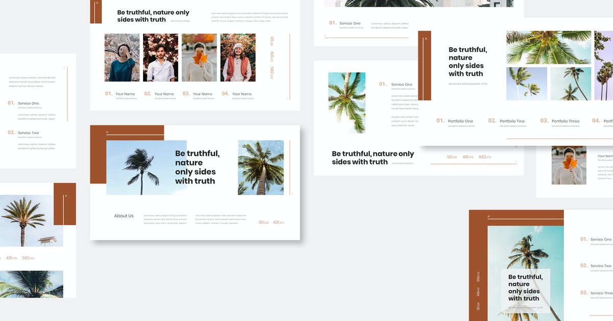 Download Palmire - Exotic Plant Powerpoint Template by naulicrea