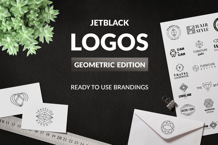 Thumbnail for 30 Premade Logos – Geometric Edition