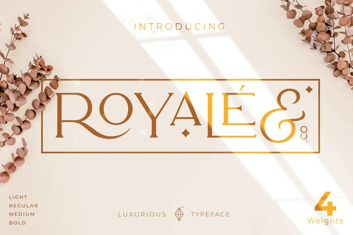 Роскошный шрифт Royale