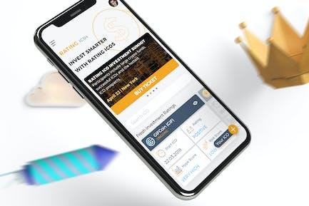 ICO Rating Crypto Mobile Ui - TH