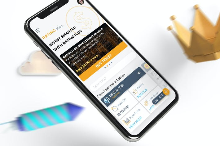 Thumbnail for ICO Rating Crypto Mobile Ui - TH