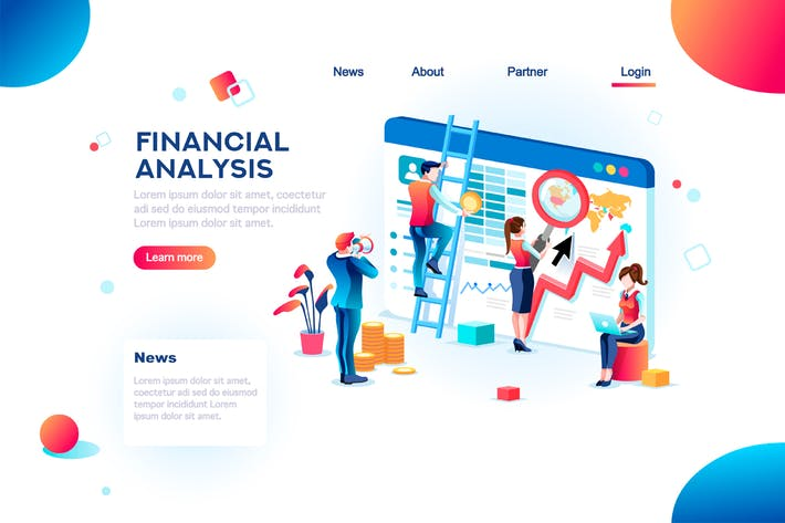 Thumbnail for Analytics Concept Finance Infographic