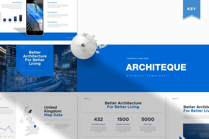Thumbnail for Architeque | Шаблон Keynote