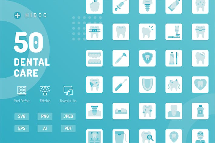 Thumbnail for Hidoc - Dental Care Icons