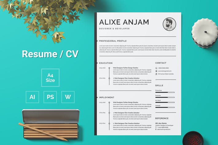 Thumbnail for Resume Template 100