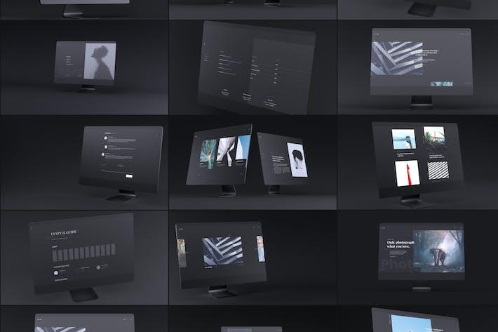 Thumbnail for Dark iMac Mockup