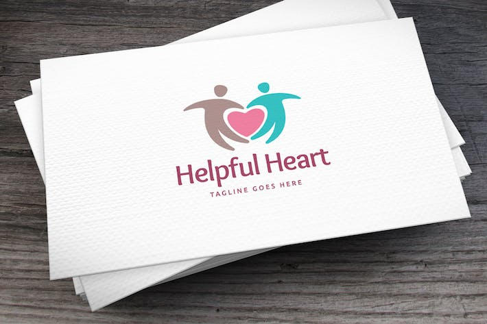 Thumbnail for Helpful Heart Logo Template