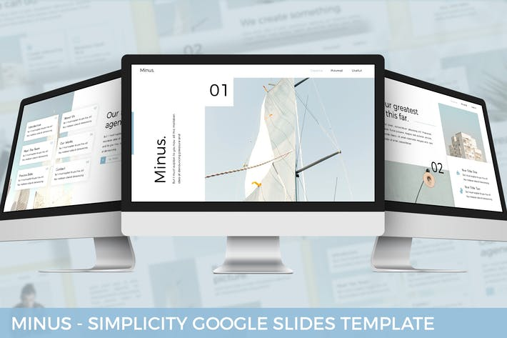 Thumbnail for Minus - Simplicity Google Slides Template
