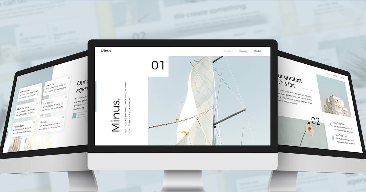 Download Minus - Simplicity Google Slides Template by SlideFactory