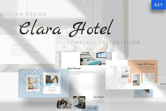 Thumbnail for Clara - Hotel Keynote Template
