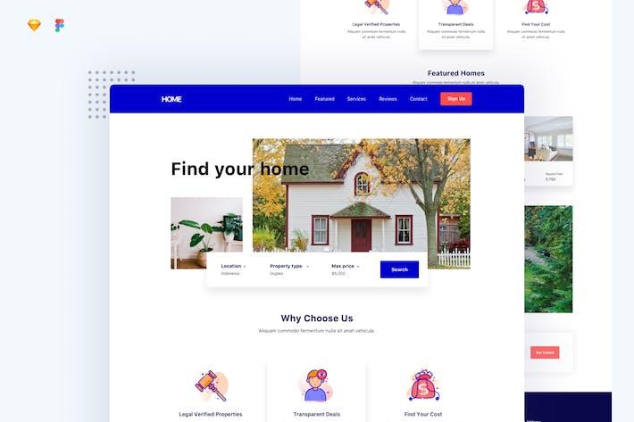 Начальная страница недвижимости