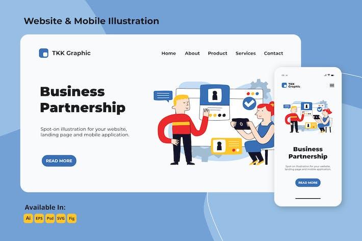 Thumbnail for Zielseite für Geschäftspartnerschaften und mobile Designs