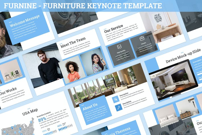 Thumbnail for Furnine - Furniture Keynote Template