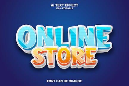 online store 3d text effect