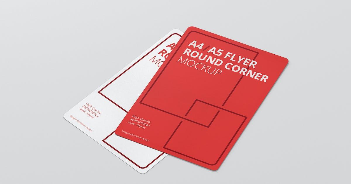 Download A4 / A5 Flyer Mockup Round Corner by visconbiz