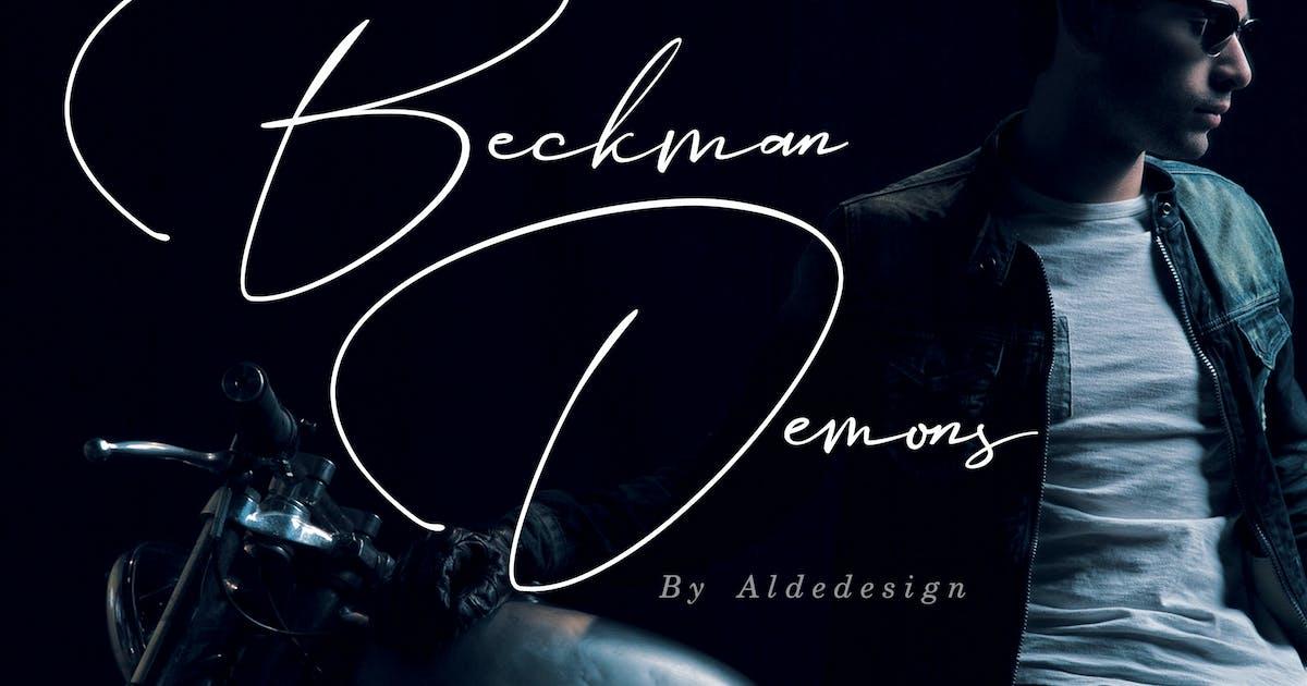 Beckman Demons - Signature Font by aldedesign