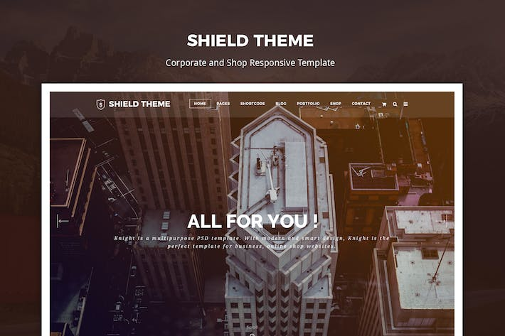 Thumbnail for Shield - Corporate and Responsive HTML Template