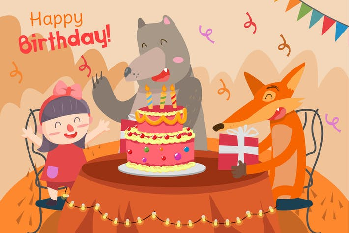 Thumbnail for Happy Birthday - Vector illustration