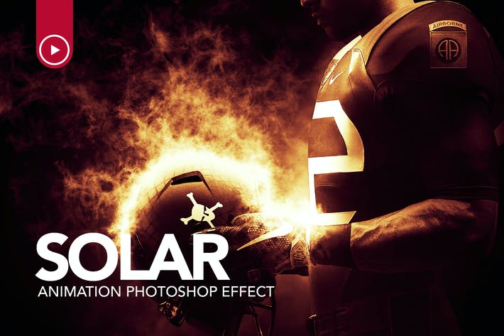 Thumbnail for Solar Animation Photoshop Action